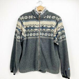 Alf Vintage Kuhl Deep Pile Fleece Zip Front Jacket
